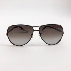 CHLOE CE100SL 700 Leather Aviator Sunglasses